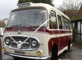 20 seat Bedford wedding bus hire in Wadhurst