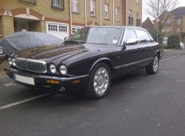 Daimler XJ8 wedding car in Nottinghamshire
