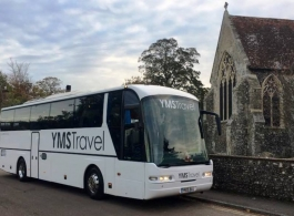 White wedding coaches for hire in Kent