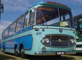 Vintage Bedford wedding bus hire in Sheffield