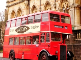 Classic bus for wedding hire in Taunton