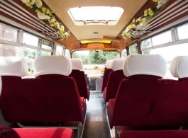 Vintage Bedford bus for weddings in Eastbourne