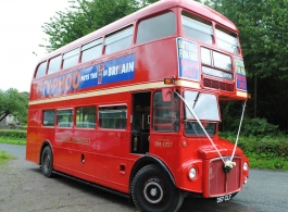 London Bus for wedding hire in Chepstow