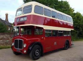 Red Bus for wedding hire in Andover
