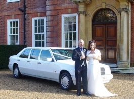 White Limousine for weddings in Brentwood
