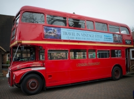Classic Red London Bus for weddings in Essex