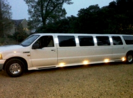 13 seat Ford Excursion Limousine for trips to London