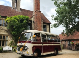 Vintage wedding bus for weddings in Hastings