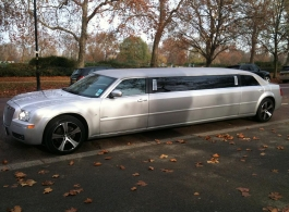Silver stretch limousine for weddings in Swindon, Wiltshire
