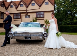 1950s Cadillac wedding car in Egham