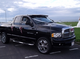 American Dodge Ram Pick Up for weddings in Kent