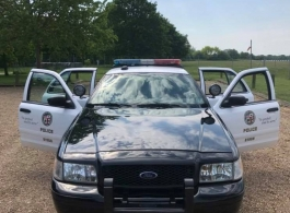 Classic American police car wedding hire in Richmond