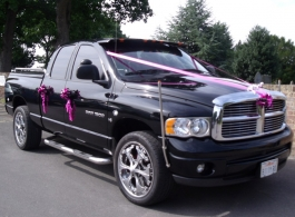 PIck up truck for weddings in Swanley