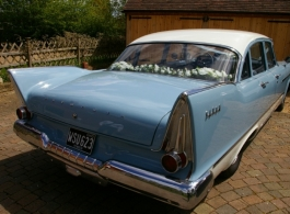 Classic 1958 Plymouth for weddings in Crowborough