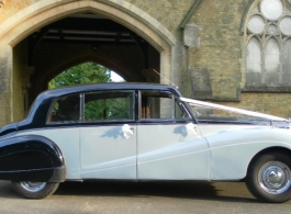 1955 classic wedding car for hire in Sidcup