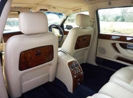 White Bentley Arnage for hire in Basingstoke
