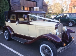 Vintage wedding car for hire in Camberley