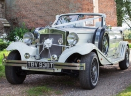 Vintage Beauford wedding car hire in Chelsea