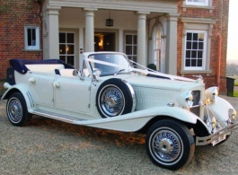 Convertible Beauford wedding car hire in Wembley