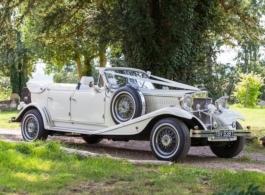 White Beauford wedding car in Wembley