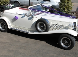 Convertible Beauford for weddings in Tonbridge