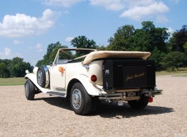 Convertible wedding car for hire in Fareham