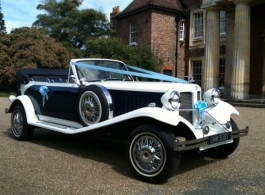 Convertible Beauford for weddings in Maidstone