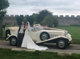 Convertible wedding car in Liphook