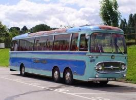 Vintage 1963 Bedford coach for weddings in Nottingham