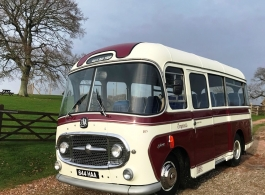 Vintage Bedford bus for weddings in Eastbourne