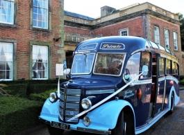 Vintage wedding bus in Hucknall