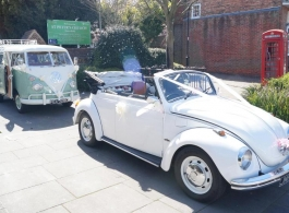VW Campervan and Beetle for wedding hire in Southsea