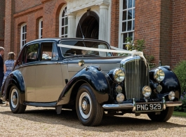 Classic Bentley for weddings in Buxted