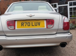 Silver Bentley Arnage for weddings in Gloucester