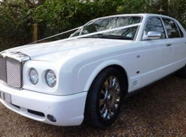 Modern Bentley wedding car hire in Southampton