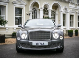Modern White Bentley for wedding hire in London