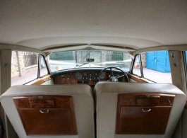 Classic White Bentley S3 for weddings in central London