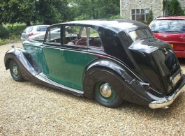 Classic Bentley for weddings in Faversham