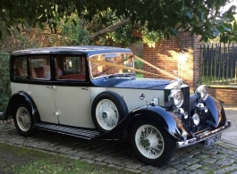 Vintage Rolls Royce wedding car hire in Southsea