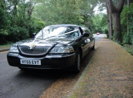 Black Limousine for weddings in Portsmouth