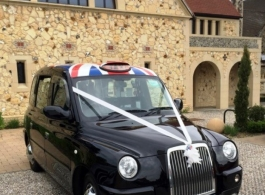 Black London Cab for weddings in Chelmsford