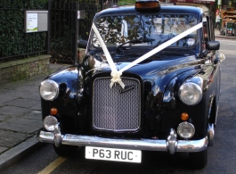 Black London Taxi for weddings in London