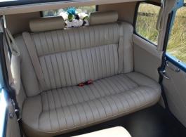 Blue Beauford wedding car in Huddersfield