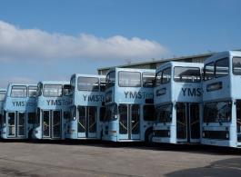 Classic Blue Double Decker wedding Bus in Ashford