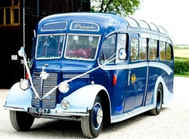 Vintage bus for wedding hire in Nottingham
