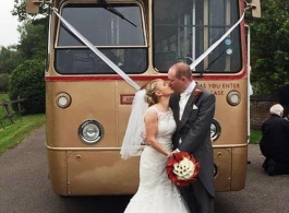 Vintage single deck bus for weddings in Tonbridge