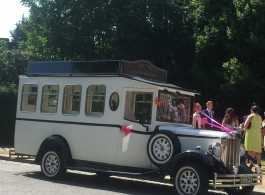 Vintage wedding bus in Portsmouth