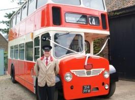 Vintage 1960 bus for wedding hire in Kidderminster