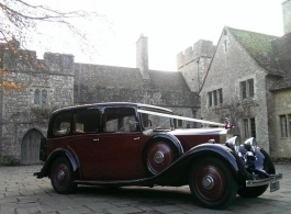 Vintage Rolls Royce Limousine for weddings in Hythe
