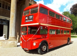 Red Routemaster wedding bus for hire in Colchester